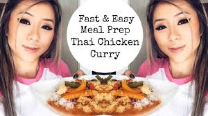 COOK WITH ME | Easy Peasy Red Thai Curry Meal Prep - YouTube