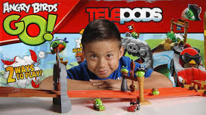 ANGRY BIRDS GO! Pig Rock Raceway - TELEPODS Unboxing, Review ...