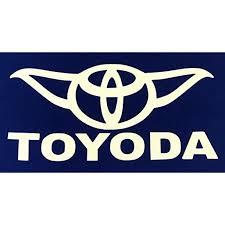 Toyoda Star Wars Yoda Vinyl Car Decal Sticker White 5 Walmart Com Walmart Com
