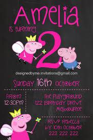 Chalkboard Peppa Pig George Pig Fairy Peppa Photo Birthday