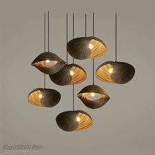 bamboo weaving seashell pendant lamp