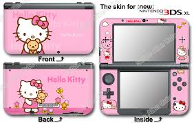 Hello Kitty Pink Cute Skin Vinyl Sticker Cover Decal For New Nintendo 3ds Xl Ebay