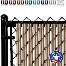 Amazon Com Ridged Slats Slat Depot Single Wall Bottom Locking Privacy Slat For 3 4 5 6 7 And 8 Chain Link Fence 5ft Beige Garden Outdoor