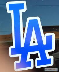 La Los Angeles Dodgers Sticker Decal Mlb Vinyl Van Car Window Vehicle Logos Van Car Chevrolet Logo
