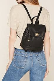 faux leather mini backpack small