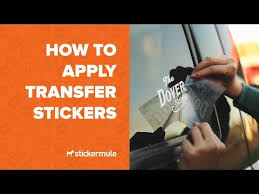 How To Apply Transfer Stickers Youtube