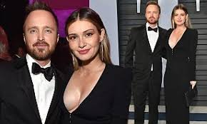 Aaron Paul and wife Lauren Parsekian attend Vanity Fair Oscar party   Daily  Mail Online