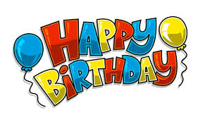 text graphic with party balloons vector