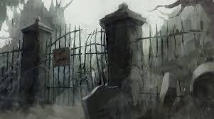 Cemetery Gate By Yiannisun On Deviantart Cemetery Art Cemetery Halloween Fence