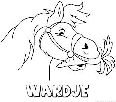 Wardje Paard Van Sinterklaas Naam Kleurplaat