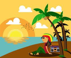 rasta man by the beach vector vector