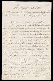 Handwritten declaration of American Independence - Age of Revolution