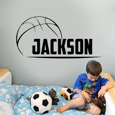 Personalized Boys Name Basketball Wall Stickers Vinyl Home Decor Kids Room Boys Bedroom Wall Decals Custom Name 2054 Wall Stickers Aliexpress