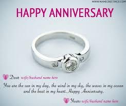 write on happy anniversary greeting card