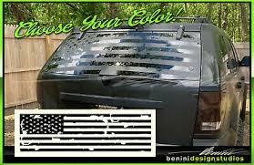 American Flag Suv Back Window Decal Universal Fit Ford Bronco Land Cruiser Hrv Ebay