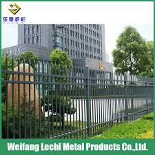 China Residential House Garden Powder Coated Galvanized Steel High Security Fence China Fencing And Steel Fencing Price