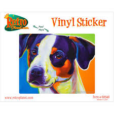 Lady Baillee Jack Russell Terrier Dog Vinyl Sticker At Retro Planet