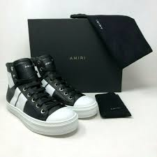 amiri sunset white leather sneakers