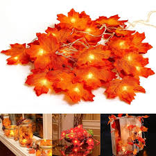 3pcs Led Diy Maple Leaf String Lights Interior Christmas Wedding Decoration Halloween Party Home Decor Night Light Fence Party Stair Railing Lights Christmas Gifts Lazada Ph