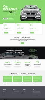plantilla web para sitio de seguros de coches