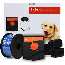 Tp16 Pet Dog Electric Fence System Rechargeable Waterproof Shock Adjustable Dog Training Collar In 2020 Dog Training Collar Invisible Pet Fence Dog Fence