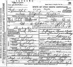 Elijah Hayes,Clara Lynham,Sarah Hannah Greaves Family Outline  Boutiful,Davis Co.,Utah