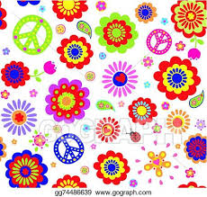 vector ilration hippie wallpaper