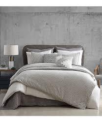 h halston clayton stripe comforter mini