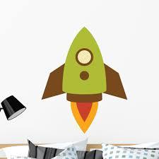 Cute Little Rocket Wall Decal Sticker By Wallmonkeys Vinyl Peel Stick Graphic For Boys 36 In H X 25 In W Walmart Com Walmart Com