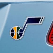 Utah Jazz Color Metal Auto Emblem Buy At Khc Sports