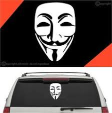 Anonymous Decal Car Sticker A1 Topchoicedecals
