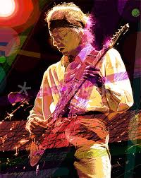 """The Sultan - Mark Knopfler"""" Painting art prints and posters by David Lloyd  Glover - ARTFLAKES.COM"""