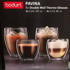 bodum pavina double wall thermo glasses