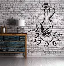 Wall Sticker Vinyl Decal Branch Glass Jar Olive Oil Fruit Decor Unique Wallstickers4you