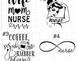 Nurse Car Decal Etsy