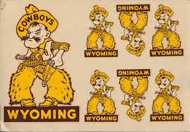 University Of Wyoming Rare Orig 40 S College Decal Vtg Cowboys Pistol Pete Set Ebay