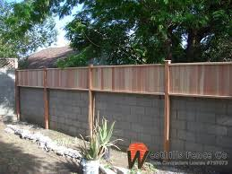 Tongue And Gvoove Redwood Fence On Top Of Wall Brick Wall Gardens Backyard Fences Privacy Fence Designs