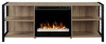 electric fireplace with glass ember