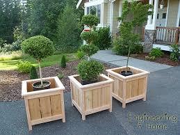 diy large cedar planter boxes