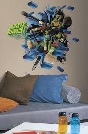 Teenage Mutant Ninja Turtles Brick Poster Peel Stick Giant Wall Deca Walldecals Com