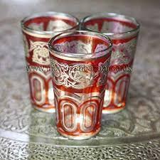 moroccan tea glasses red co uk