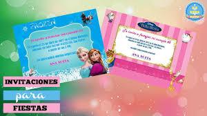 Ideas Invitaciones Para Fiestas De Cumpleanos O Fiestas Infantiles