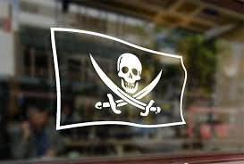 Amazon Com 25 Centimeters Jolly Roger Flag Vinyl Stickers Funny Decals Bumper Car Auto Computer Laptop Wall Window Glass Skateboard Snowboard Sports Outdoors