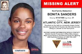 BONITA SANDERS, Age Now: 31, Missing: 09/14/1986. Missing From ATLANTIC  CITY, NJ. Case Possible Location: NY,… | Atlantic city, Looking for  someone, Missing persons