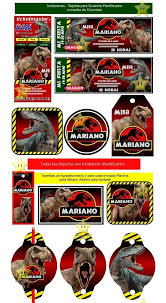 Kit Imprimible Candy Bar Jurassic Park Dinosaurios Y Mas S 9 99