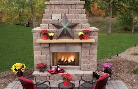 fireplace curved patio backyard outdoor