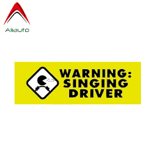 Aliauto Funny Car Sticker Personality Warning Singing Driver Cover Scratch Decal Accessories Pvc For Volkswagen Toyota 16cm 8cm Car Stickers Aliexpress