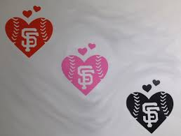 San Francisco Giants Baseball Heart Vinyl Car Decal Large Etsy San Francisco Giants Baseball Giants Baseball San Francisco Giants