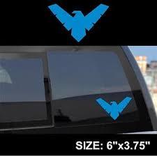 Nightwing Logo Symbol Sticker Decal Light Blue Batman Robin Dick Grayson Ebay