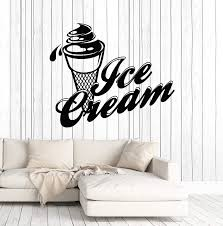 Amazon Com Vinyl Wall Decal Ice Cream Cone Shop For Truck Art Stickers Mural Large Decor Ig5104 Black Home Kitchen